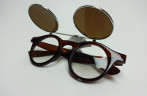 FUnny Geek sunglasses with double lens