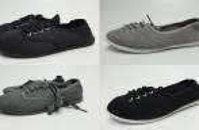 Schwarze und graue Schuhe Sneaker