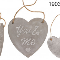 Heart decoration made of cement You & Me
