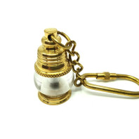 Exclusive keychain - ship's lamp - brass