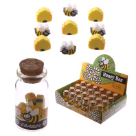 Mini rubbers for rubbing bees in a jar