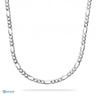 Collana Formula Figaro Flat 51 cm - Argento 925 Made in Italy