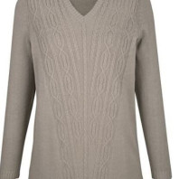Sweater with a cable knit pattern
