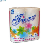 Set 2 Rolls of paper towels FIORE - ONDA in 2 layers