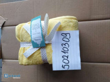 Cotton terry yellow hooded towel