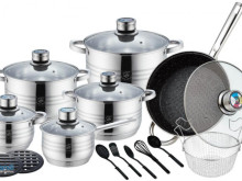 cookware SET , 20 pcs in stainless steel stone stove + accessories
