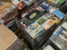 200 pallets of household appliances and garden articles