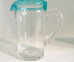 Glass carafe mounth-blown