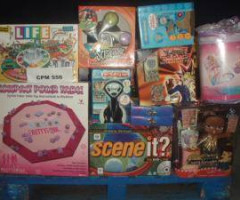 Barbie, Hot Wheels, Spiderman, Superman toys and games