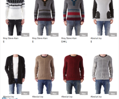 Stock Men's Knitwear Autumn/Winter
