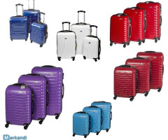 "3-pcs. luggage set ""Penn"", polycarbonate, meas. approx. 66/56/46cm"