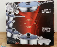 Royalty Line- 16 pcs stainless steel cookware set RL-16BG-CC