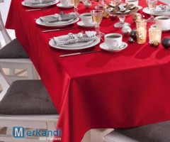 Elegant tablecloth 140x240 white or red