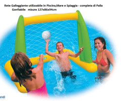 Sea game with floats and inflatable grid - ball included