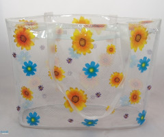 PLASTIC BAG WITH FLOWER DECORATION - HIT!