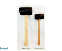 Rubber hammer with a wooden handle 225 grams  MB-5934