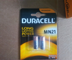 MN21 Duracell batteries 2018