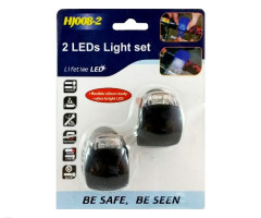 Set of LED lights bicycle, silicone 2 pieces (SBL01)