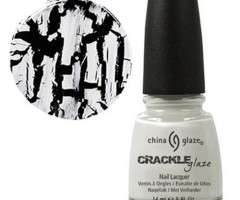 China glaze white crackle nail polish