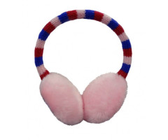 Pink ear-muffs with stripes
