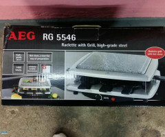 AEG  raclette with grill