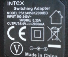 Intex 5V 2A 2.5mm UK Mains AC Wall Adapter Power Charger Supply Tablet