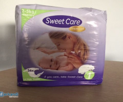 "Baby diapers ""Sweetcare"" for 0,04 € per diaper"