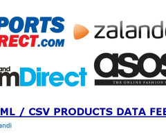 Zalando, Sportsdirect, Mandmdirect, Asos XML / CSV PRODUCTS DATA FEED