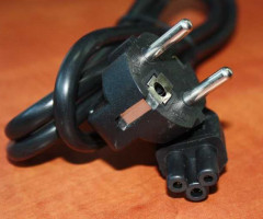 The new power cord 3 pin (3-prong)