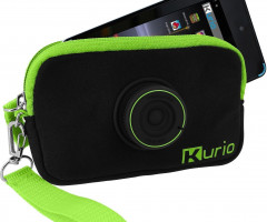 Genuine Kurio 4S Case - Black Canvas with Lime Green Detail - Brand Ne