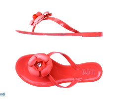 Flip flops for women melissa rubber flower flat shoes jelly