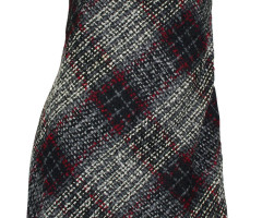 Bouclé dress sheath dress black gray checkered