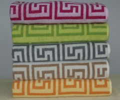 jacquard terry towels  70 x 140 cm , weight 500 gsm  , 100% cotton.