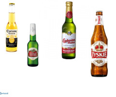 Beer for export, several brands available