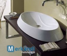 Stock - Hygienic facilities: Wc, bidet and washbasins.