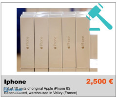 Private Sales B2B Overstock Lot of 10 units of original Apple iPhone