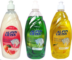Dishwashing detergent ALPINWEISS 4- varieties 1000ml