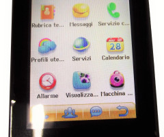 MOBILE PHONE DUAL SIM TOUCHSCREEN X2B - BLACK AND WHITE
