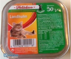 Felidae Landhuhn Complete food for cats Soufle shell 90g with 50% meat
