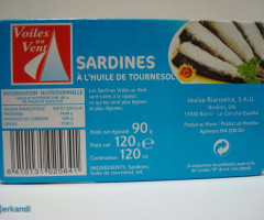 Canned sardines in oil 120g