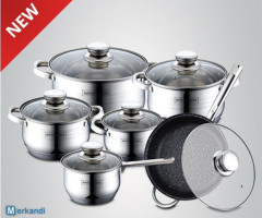 Royalty Line - RL-1231M 12pcs stainless steel cookware set