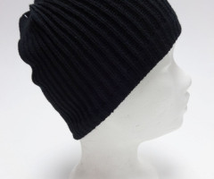 Black knitted beanies
