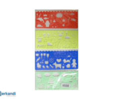 Rulers set of 4 pieces PND-9722
