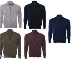 ARMANI MEN ZIPPER CARDIGAN
