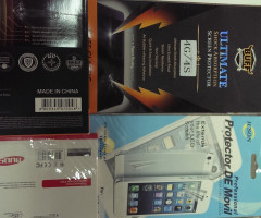 Lot of mobile phones' screen protectors