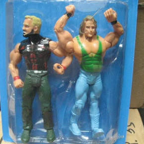 Warriors and wrestlers action figures
