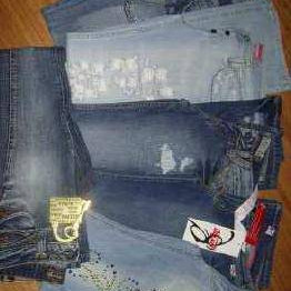 Shoes, sportswear, jeans - mixed stock