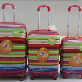 "3-pcs. luggage set, ABS/polycarbonat, 20/24/28"", ultralight"