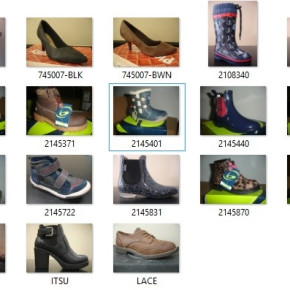 Mixed stock of shoes for women and kids