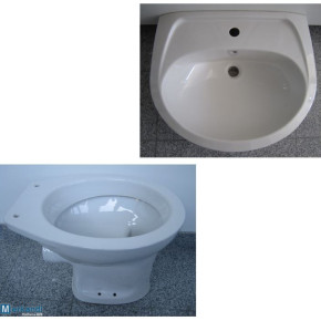 Special brands BATHROOM SET washbasin 60cm + WC in White